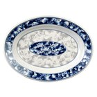 Blue Dragon 13 inch x 9 3/4 inch Oval Melamine Deep Platter - 12 / Pack