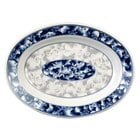 Blue Dragon 13 inch x 9 3/4 inch Oval Melamine Deep Platter - 12/Pack