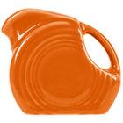 Homer Laughlin 475325 Fiesta Tangerine 5 oz. Mini Disc Creamer Pitcher   - 4/Case