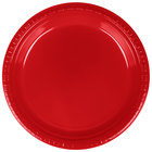 Creative Converting 28103121B 9 inch Classic Red Plastic Dinner Plate - 50 / Pack