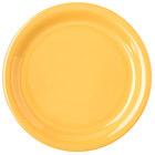Carlisle 4300822 Durus 6 1/2 inch Honey Yellow Narrow Rim Melamine Plate - 48/Case