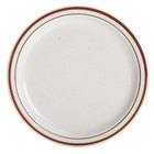 Brown Speckle Narrow Rim 9 inch China Plate - 24/Case
