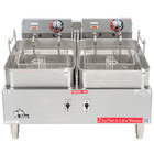 Star Max 530TF 30 lb. Twin Pot Commercial Countertop Deep Fryer 11,500W