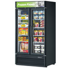 Turbo Air TGF-35SD Black 42 inch Super Deluxe Two Door Merchandiser Freezer - 37 Cu. Ft.