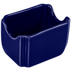 Homer Laughlin 479105 Fiesta Cobalt Blue 3 1/2 inch x 2 3/8 inch Sugar Caddy - 12 / Case