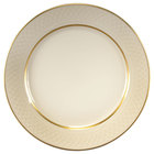 Homer Laughlin 1420-0339 Westminster Gothic 10 5/8 inch China Plate - Off White 12 / Case