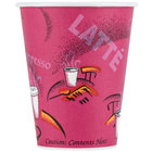 Dart Solo 378SI-0041 Bistro Print 8 oz. Poly Paper Hot Cup - 1000/Case