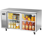 Turbo Air JUR-60-G J Series 60 inchUndercounter Refrigerator with Side Mounted Compressor and Glass Doors - 15 Cu. Ft.