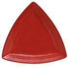 Tuxton Concentrix CQZ-1248 Cayenne 12 1/2 inch Triangle China Plate 6 / Case