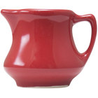 Hall China 30196326 Scarlet 5.5 oz. Colorations Empire Creamer - 24/Case