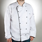 Chef Revival J044-3X Chef-Tex Breeze Size 56 (3X) Customizable Poly-Cotton Brigade Chef Jacket with Black Piping