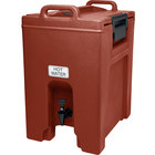 Cambro UC1000402 Ultra Camtainer 10.5 Gallon Brick Red Insulated Beverage Dispenser
