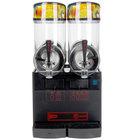 Cecilware FrigoGranita NHT2ULBL Double 2.5 Gallon Bowl Pourover Granita Dispenser with Black Finish