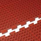 Cactus Mat 4420-RC VIP Duralok 3' x 5' Red Center Interlocking Grease-Resistant Anti-Fatigue Anti-Slip Floor Mat - 3/4 inch Thick