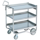 Vollrath 97208 Heavy-Duty Stainless Steel 3 Shelf Utility Cart - 44 inch x 23 inch x 44 1/2 inch
