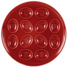 Homer Laughlin 724326 Fiesta Scarlet 11 1/4 inch Egg Tray - 4/Case