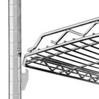 Metro HDM1448QBR qwikSLOT Drop Mat Super Erecta Brite Wire Shelf - 14 inch x 48 inch