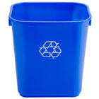 Continental 1358-1 13 Qt. Blue Recycling Wastebasket