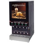 Cecilware GB5M10-LD Feature Flavor Series Five Hopper Powdered Cappuccino Dispenser with Illuminated Front - 120V
