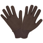 Two Piece Reversible Brown Jersey Gloves - Large - 12/Case