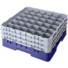 Cambro 36S738186 Navy Blue Camrack 36 Compartment 7 3/4 inch Glass Rack