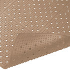 Cactus Mat 1640R-B364 REVERS-a-MAT 3' Wide Brown Reversible Rubber Anti-Fatigue Safety Runner Mat - 3/8 inch Thick