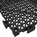 Cactus Mat 2557-CTHD Poly-Lok 12 inch x 12 inch Black Heavy Duty Vinyl Interlocking Drainage Floor Tile - 3/4 inch Thick