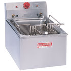 Cecilware EL-250 208 Stainless Steel Commercial Countertop Electric Deep Fryer with 15 lb. Fry Tank - 4200/5500W