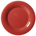 GET WP-10-CR Cranberry Diamond Harvest 10 1/2 inch Wide Rim Plate - 12 / Case
