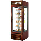 True G4SM-23-RGS-LD Bronze Four Sided Glass Door Refrigerator Merchandiser with Revolving Shelves - 23 Cu. Ft.