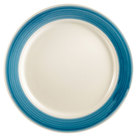 CAC R-6-BLU Rainbow Dinner Plate 6 1/2 inch - Blue - 36 / Case