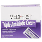 Medique 22373 Medi-First .5 g Antibiotic Cream Packet - 25/Box