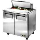 True TSSU-36-8 36 inch 2 Door Sandwich / Salad Prep Refrigerator