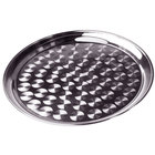 12 inch Stainless Steel Serving / Display Tray with Swirl Pattern - Narrow Rim