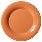 GET WP-10-PK Pumpkin Diamond Harvest 10 1/2 inch Wide Rim Plate - 12 / Case