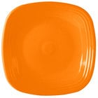 Homer Laughlin 919325 Fiesta Tangerine 10 3/4 inch Square Plate - 12/Case