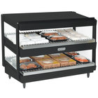 Nemco 6480-30B Black 30 inch Horizontal Double Shelf Merchandiser - 120V