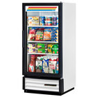 True GDM-10-LD White Refrigerated Glass Door Merchandiser with LED Lighting - 10 Cu. Ft.