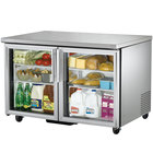 "True TUC-48G-HC-LD 48"" Undercounter Refrigerator with Glass Doors"