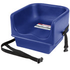 Cambro 100BCS Navy Blue Single Seat Booster Chair with Strap