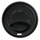 Choice 10, 12, 16, and 20 oz. Black Hot Paper Cup Travel Lid - 100/Pack