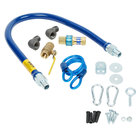 Dormont 1650KIT36 Deluxe SnapFast® 36 inch Gas Connector Kit with Two Elbows and Restraining Cable - 1/2 inch Diameter