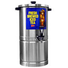 Cecilware SU3P Stainless Steel 3 Gallon Iced Tea Dispenser with Round Base