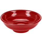 Homer Laughlin 765326 Fiesta Scarlet 2 Qt. Pedestal Serving Bowl - 4/Case