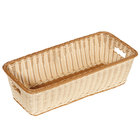 GET WB-1519-TT Designer Polyweave Plastic Rectangular Basket 23 inch x 11 inch x 6 3/4 inch - 6/Pack