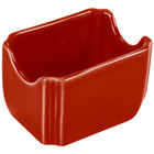 Homer Laughlin 479326 Fiesta Scarlet 3 1/2 inch x 2 3/8 inch Sugar Caddy - 12 / Case