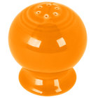 Homer Laughlin 751325 Fiesta Tangerine Pepper Shaker - 12 / Case