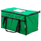 Choice 23 inch x 13 inch x 15 inch Green Insulated Nylon Food Delivery Bag / Pan Carrier