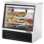 True TSID-48-2 White Single Duty Two Door Refrigerated Deli Case - 16 Cu. Ft.
