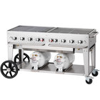 Crown Verity CCB-60-LP 60 inch Outdoor Club Grill with 2 Horizontal Propane Tanks